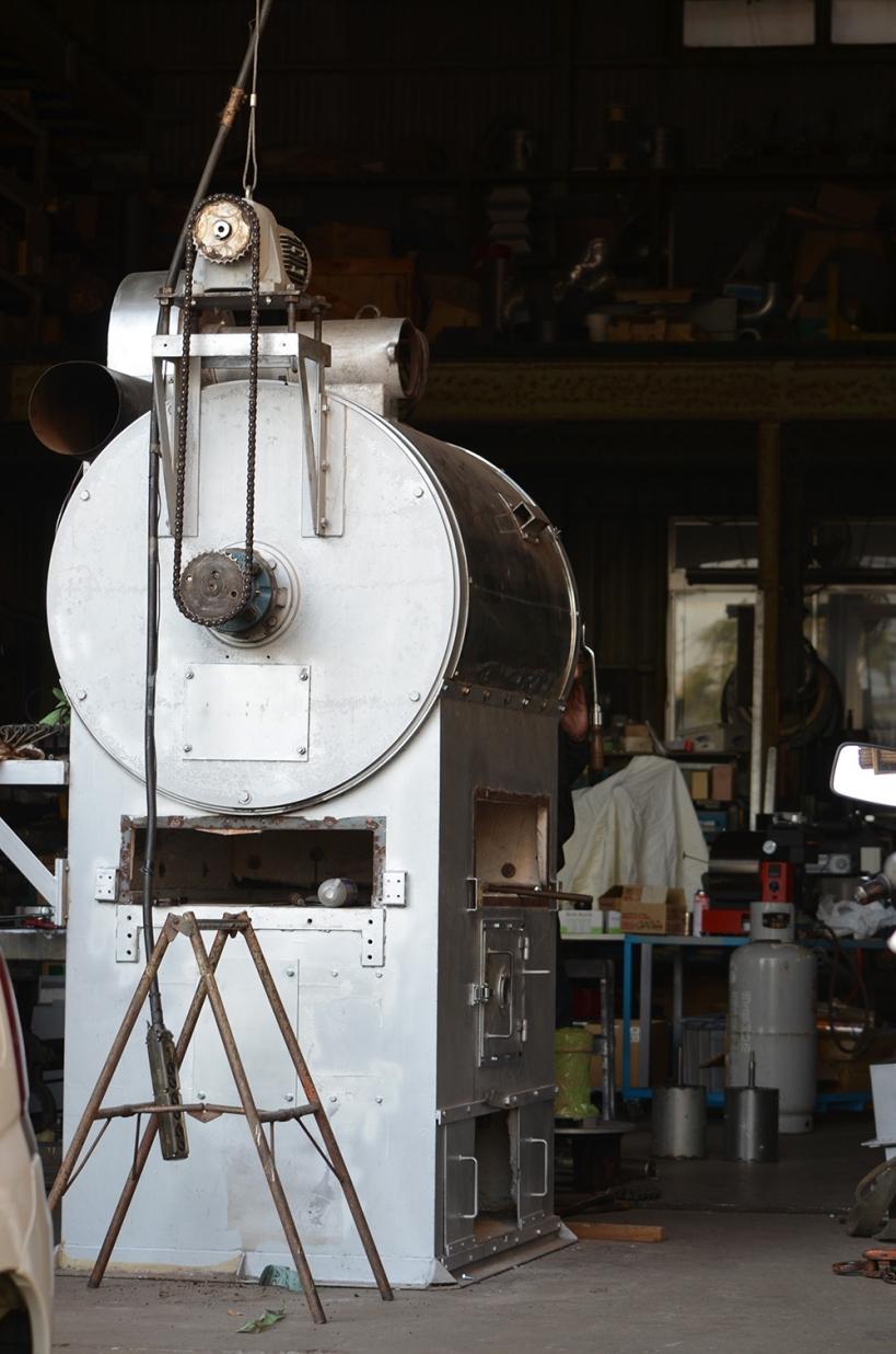 珈琲焙煎機60kg半熱風式