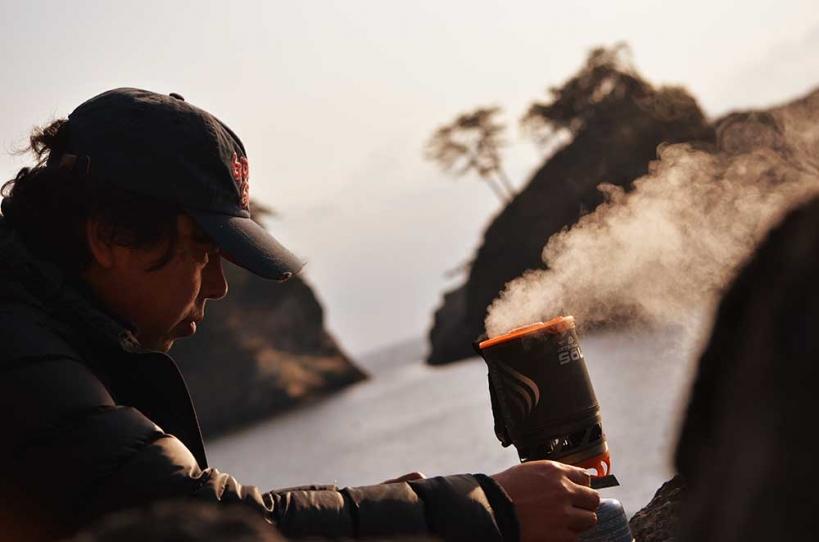 アウトドアコーヒー 湯沸し