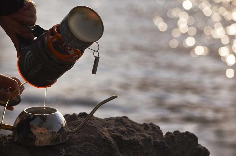 アウトドアコーヒー 湯沸し2