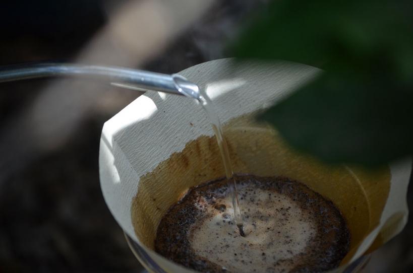 アウトドアコーヒードリップ