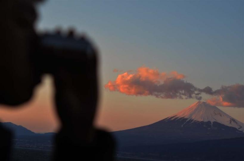アウトドアコーヒー 富士山