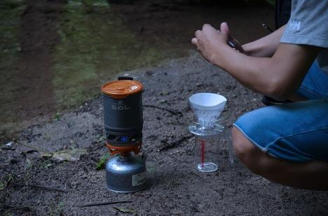アウトドアコーヒー 奥入瀬渓流 3