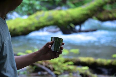 アウトドアコーヒー 奥入瀬渓流 4