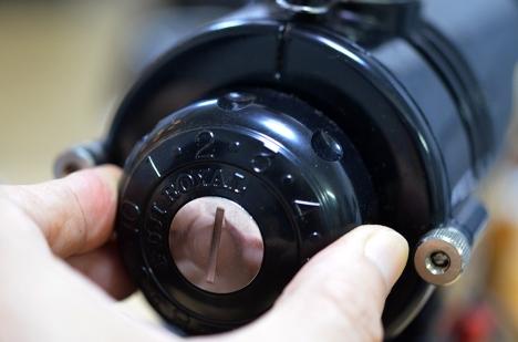 コーヒーミル フジローヤル みるっこDX R-220 11 使い方 挽目ダイアル