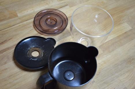 フジローヤルコーヒーミル-みるっこDX-R-220-31-分解清掃-ホッパー粉受け