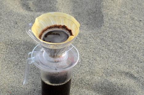 アウトドアコーヒー 中田島砂丘