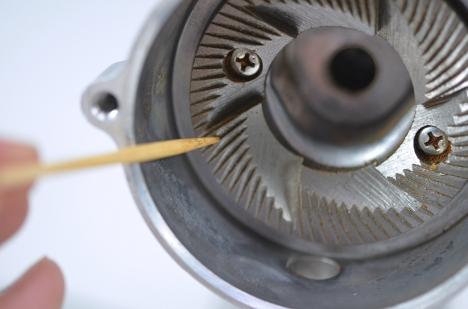 カリタ ナイスカットミル 29 カット刃-本体側 掃除