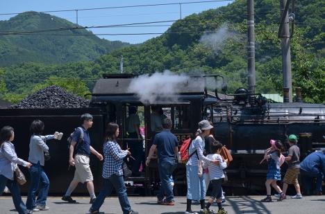 長瀞駅 SL 蒸気機関車