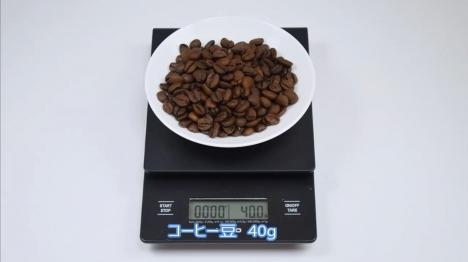 本格的な点滴スタイルの水出しアイスコーヒーを淹れる 1 コーヒー豆 40g