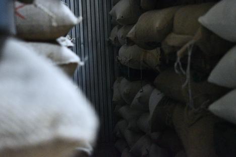 コーヒー生豆定温倉庫麻袋